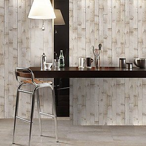 cheap Wallpaper-Simulation Fir Grain Floor Stickers Color Wall Stickers Pvc Waterproof Wear-resistant Thickened Stickers Brown Wood Grain