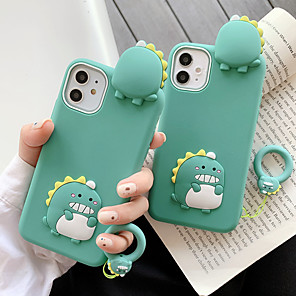 cheap iPhone Cases-3D Cute Cartoon Dinosaur Case for iPhone XS 11 Pro Max se 2020 XR X 6 6S 7 8 Plus Kawaii Soft Silicone Rubber Back Cover Shell Fundas