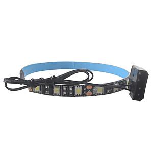 cheap LED Strip Lights-0.3m Flexible LED Light Strips 30 LEDs SMD5050 10mm 10pcs Warm White White Red Party Linkable Suitable for Vehicles 12 V