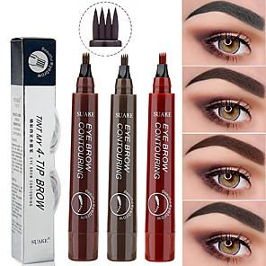 cheap Relays-1pcs Microblading Eyebrow Pen Waterproof Fork Tip Eyebrow Tattoo Pencil Long Lasting Professional Fine Sketch Liquid Eye Brow Pencil