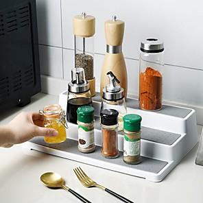 povoljno Sokovnici-3-slojna polica za začine plastična vodootporna i neklizajuća višenamjenska polica za kuhinju