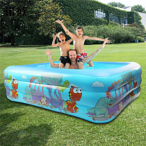 cheap Inflatable Ride-ons & Pool Floats-Ball Pool Kiddie Pool Paddling Pool Inflatable Pool Intex Pool Inflatable Swimming Pool Kids Pool Water Pool for Kids Fun Novelty PVC Summer Dinosaur Swimming 1 pcs 130*92*50cm Adults Kids