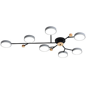 cheap Dimmable Ceiling Lights-ZHISHU 7-Light 120 cm Dimmable / Geometric Shapes Flush Mount Lights Metal Acrylic Sputnik Painted Finishes Traditional / Classic / Nordic Style 220-240V