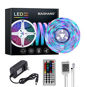 cheap LED Strip Lights-MASHANG Bright RGBW LED Strip Lights 5M RGBW Tiktok Lights 1170LEDs SMD 2835 with 44 Keys IR Remote Controller and 100-240V Adapter for Home Bedroom Kitchen TV Back Lights DIY Deco