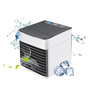 cheap Household Appliances-Portable Air Conditioner USB Desktop Air Conditioning USB Convenient Air Cooler Fan 3 Speeds, Super Quiet Humidifier Misting Cooling Fan for Home Office Bedroom Mini Air Cooling Fan