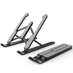cheap Stands & Cooling Pads-Portable Laptop Stand Foldable Support Base Notebook Stand Holder For Macbook Pro Air HP Lapdesk Computer Cooling Bracket Riser