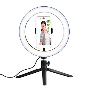 cheap Earphone Accessories-26cm 10inch LED Selfie Ring Light Dimmable LED Ring Lamp Photo Video Camera Phone Light Ringlight For Live YouTube Fill Light