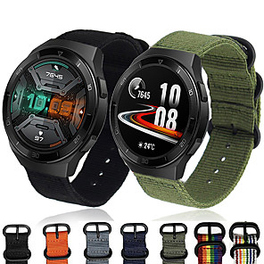 tanie Opaski Smartwatch-nylonowy pasek na nadgarstek pasek do zegarka dla Huawei Watch GT 2e 46mm / Honor Magic Watch 2 46mm / Watch 2 Pro / GT2 46mm / GT Active Wymienna bransoletka sportowa