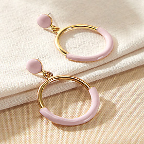 cheap Historical & Vintage Costumes-Women's Drop Earrings Earrings Classic Fashion Classic Elegant Trendy Fashion Cute Earrings Jewelry Blushing Pink For Party Evening Gift Vacation Beach Festival 1 Pair