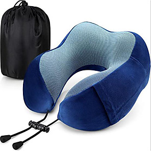 cheap Car Emergency Tools-Travel Pillow Memory Foam Neck Pillow Head Support Soft Pillow for Sleeping Rest Airplane Travel Comfortable and Lightweight Improved Support
