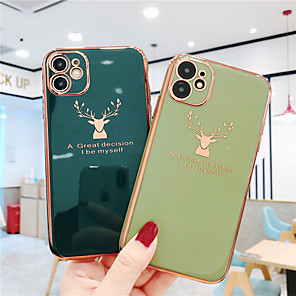 cheap iPhone Cases-Case For Apple iPhone 11 / iPhone 11 Pro / iPhone 11 Pro Max Plating Back Cover Solid Colored TPU