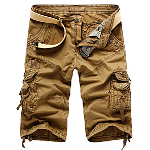 cheap Hiking Trousers & Shorts-Men's Basic Daily Slim Shorts Tactical Cargo Pants Solid Colored Summer White Black Blue US38 / UK38 / EU46 US40 / UK40 / EU48 US42 / UK42 / EU50