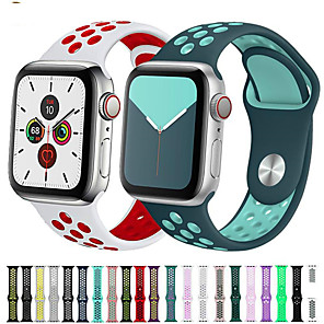 cheap Smartwatch Bands-Watch Band for Apple Watch Series 5 43 2 1 Apple Sport Band Silicone Wrist Strap