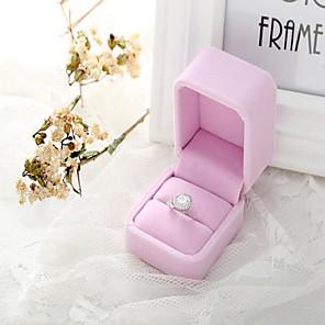 cheap Wedding Decorations-Plush Solid Velvet Ring Pillow Wedding All Seasons