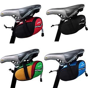 cheap Bike Frame Bags-1.2 L Bike Saddle Bag Reflective Portable Cycling Bike Bag Terylene Bicycle Bag Cycle Bag Outdoor Exercise