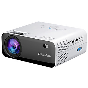 cheap Projectors-Mini Projector AT450 HD Native 1280 x 720P Support 1080P Android WiFi Projector Video Home Cinema 3D HDMI Movie Game Proyector