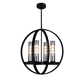 cheap Pendant Lights-4-Light 51 cm Candle Style Chandelier Metal Glass Painted Finishes Modern / Nordic Style 110-120V / 220-240V