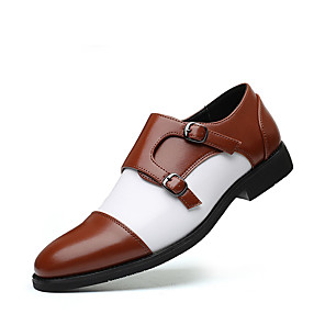 cheap Men's Slip-ons & Loafers-Men's Summer / Fall Classic / Casual Daily Office & Career Loafers & Slip-Ons Faux Leather Non-slipping Wear Proof Black / Brown Color Block