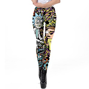 cheap Anime Costumes-Inspired by Rick and Morty Pants Polyster Printing Pants For Women's