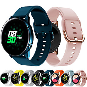 cheap Smartwatch Bands-Watch Band for Samsung Galaxy Watch 42mm / Samsung Galaxy Watch Active / Samsung Galaxy Watch Active 2 Samsung Galaxy Sport Band / Classic Buckle Silicone Wrist Strap