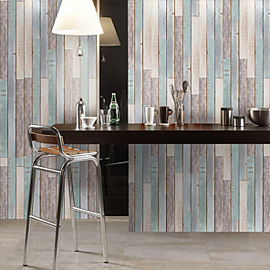 cheap Wall Stickers-Waterproof And Wear-resistant Colored Wood Grain Stickers Wall Stickers Floor Stickers Pvc Thickening