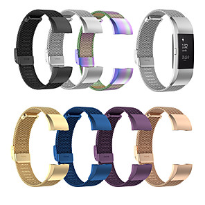 cheap Smartwatch Bands-Stainless Steel Meshed Watch Band for Fitbit Charge 2 Metal Milanese Loop Magnetic Watchband Watch Strap for Fitbit Charge 2