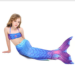 cheap Dolls Accessories-Kids Girls' Print Swimwear Blue