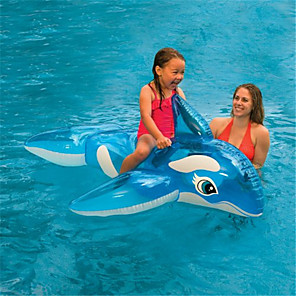 cheap Inflatable Ride-ons & Pool Floats-Inflatable Pool Float Swim Rings Kiddie Pool Inflatable Ride-on Inflatable Pool Animals PVC(PolyVinyl Chloride) Summer Whale Pool Kid's Adults'