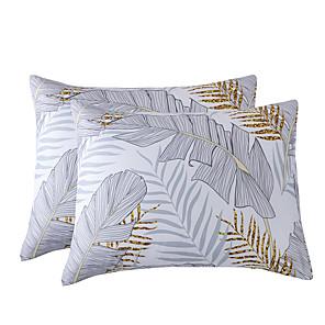 povoljno Jastuci-jastučnica od jastuka lagana posteljica jastuk pamučni mramor jastuk rešetka bijela siva set od 2 (2pcs jastučnice bez umetka)