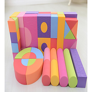 cheap Building Blocks-48PCS Colorful Wooden Foam Building Blocks Educational Toys