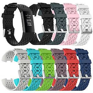 tanie Opaski Smartwatch-oddychający silikonowy pasek sportowy do ładowania fitbit 4 / fitbit charge 3