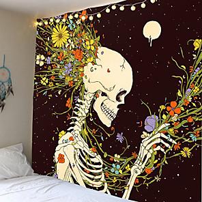 cheap Wall Tapestries-Schedel Mandala Tapijt Muur Opknoping Sterrenhemel Hippie Tapestry Maan Hekserij Liefde Rose Ouija Boho Decor Muur Doek Wandtapijten