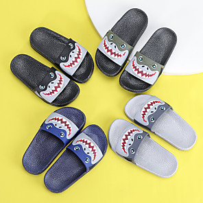 cheap Kids' Slippers-Boys' / Girls' Comfort PVC Slippers & Flip-Flops Toddler(9m-4ys) / Little Kids(4-7ys) Black / Green / Blue Spring / Summer / 3D