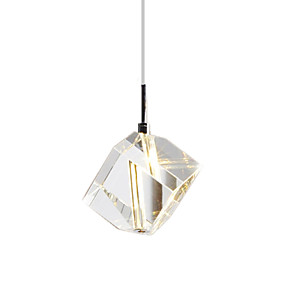 cheap Indoor Wall Lights-1-Light CXYlight 9(3.5'') Crystal / Mini Style Pendant Light Metal Mini Electroplated Modern Contemporary 110-120V / 220-240V