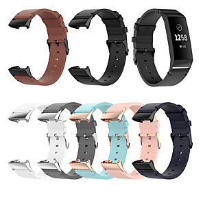 cheap Smartwatch Bands-Watch Band for Fitbit charge3 / Fitbit Charge 4 Fitbit Classic Buckle / Modern Buckle / Business Band Quilted PU Leather Wrist Strap