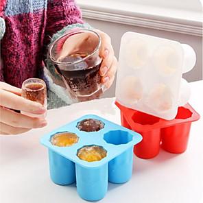 povoljno Sokovnici-4 šalice oblika silikonske ledene kocke kalup pucnjevi staklo led kalup leda kocka pladanj ljetni bar party pivo led napitak pribor za alat