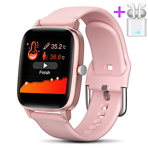 cheap Smartwatches-JSBP T98Pro  Women Smart Bracelet Smartwatch BT Fitness Equipment Monitor Waterproof with TWS Bluetooth HeadsetTake Body Temperature for Android Samsung/Huawei/Xiaomi iOS Mobile Phone