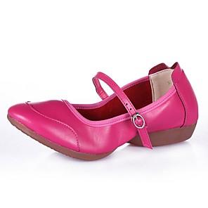 cheap Jazz Shoes-Women's Dance Shoes Modern Shoes Flat Cuban Heel White / Black / Red / Performance
