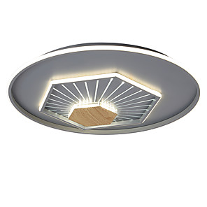 cheap Dimmable Ceiling Lights-ZHISHU 40 cm Dimmable Geometric Shapes Flush Mount Lights Metal Acrylic Basic Painted Finishes Nature Inspired Nordic Style 220-240V