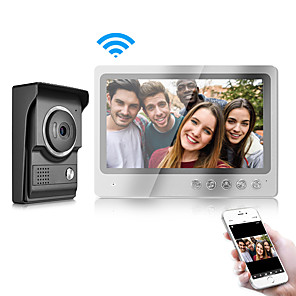 cheap Video Door Phone Systems-Two Way IOS/Android Smart Phone Control Doorbell with WIFI 9 inch Monitor and Waterproof Cover Camera Video Door Phone Intercom System