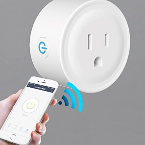 cheap Smart Plug-wifi socket smart socket Tuya US standard small round head Alex GoogleHome voice control remote switch smart switch