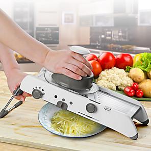 cheap Kitchen Utensils & Gadgets-Adjustable Multi-function Chopper Chopping Potato Slicer Grater Slicer Kitchen Wipe Masher Vegetable Tool Stainless Steel