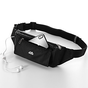 cheap Running Bags-Running Belt Fanny Pack Belt Pouch / Belt Bag for Running Hiking Outdoor Exercise Traveling Sports Bag Adjustable Waterproof Portable Nylon Men's Women's Running Bag Adults