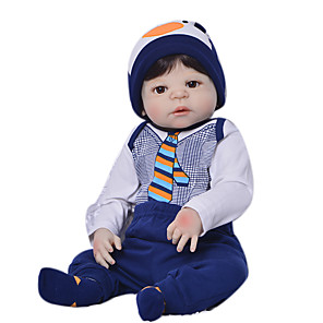 cheap Reborn Doll-Reborn Baby Dolls Clothes Reborn Doll Accesories Cotton Fabric for 22-24 Inch Reborn Doll Not Include Reborn Doll Penguin Soft Pure Handmade Boys' 5 pcs