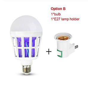 cheap Disinfection & Sterilizer-20V E27 UV LED Bulb 15W Mosquito Killer Lamp 2 In 1 Mosquito Trap Insect Killer Light Bulb Fly Bug Zapper Night Light For Baby