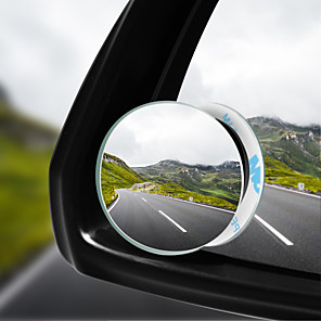 cheap Rear View Monitor-Car 360 Wide Angle Round Convex Mirror Car Vehicle Side Blindspot Blind Spot Mirror Wide Rear View Mirror Small Round Mirror