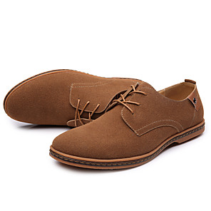 cheap Men's Oxfords-Men's Dress Shoes Comfort Shoes Spring / Fall Classic / Casual / British Daily Outdoor Office & Career Oxfords Suede Wear Proof Black / Yellow / Camel / EU42