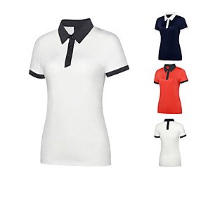 cheap Golf Clubs-Women's Golf Tee T-shirt Polo Shirts Color Block Breathable Fast Dry Soft Autumn / Fall Spring Summer Outdoor / Cotton / Short Sleeve / Stretchy