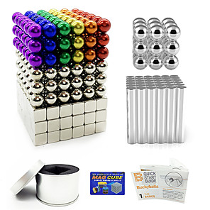 cheap Building Blocks-387 pcs Magnet Toy Magnetic Toy Magnetic Balls Magnetic Sticks Building Blocks Puzzle Cube Magnetic Square Stress and Anxiety Relief Office Desk Toys Relieves ADD, ADHD, Anxiety, Autism Teenager