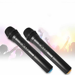 cheap Microphones & Accessories-karaoke dynamic microphone portable singing handheld speaker >90 for conference stage ktv interview home 5 w 0.08-18 khz 2200 mah 12 v battery powered for studio recording & broadcasting